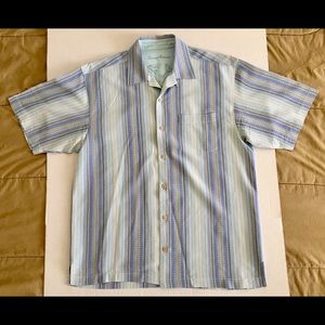 Tommy Bahama 100% Silk Vacation Camp Shirt Sz Med